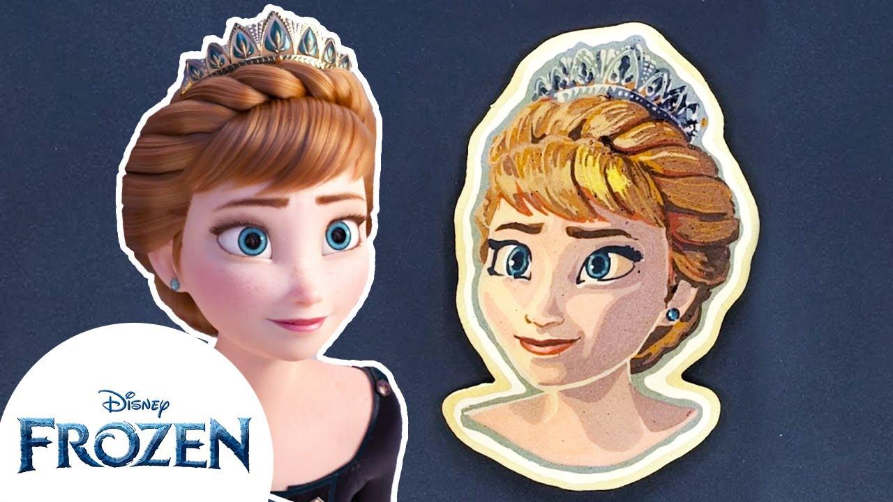 Frozen Pancake Art | Anna | Frozen