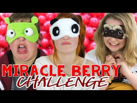 Miracle Berry Taste Challenge / Magic Berry Mberry Game | NiliPOD