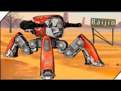 СУПЕР РОБОТ ПАУК Raijin - Игра War Robots. Игры для андроид. Битва роботов  2