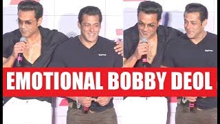 Bobby Deol Got EMOTIONAL While Thanking Salman Khan | Race 3 Trailer Launch