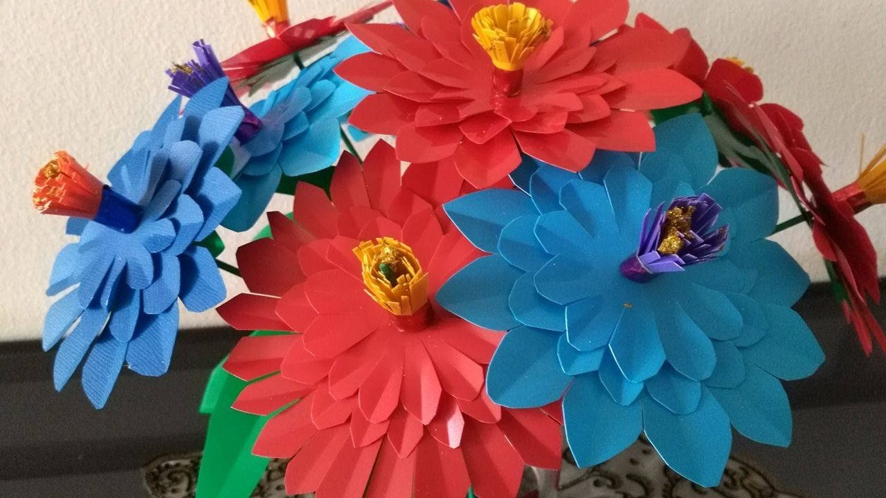 DIY Crafts - How to Make Colorful Flower Bouquet out of plastic ...