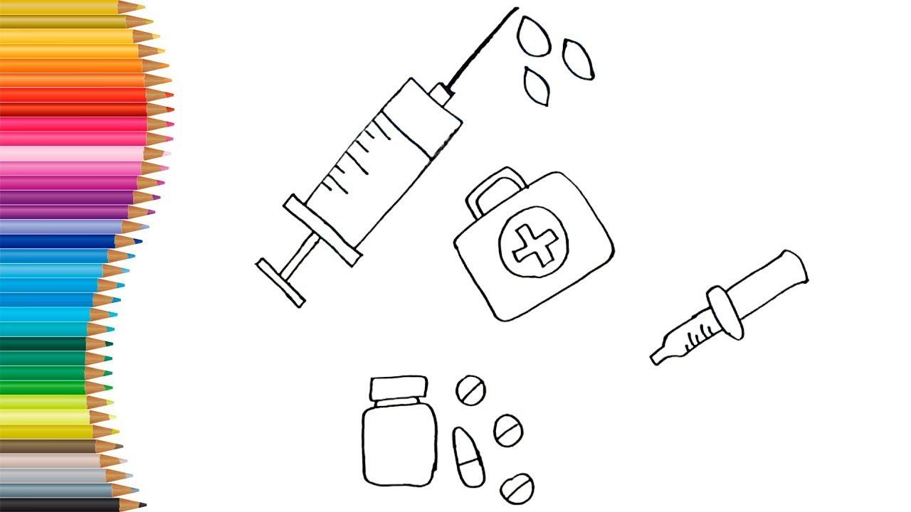 Como Desenhar E Colorir Kit Medico Para Criancas Tv Kids Youtube