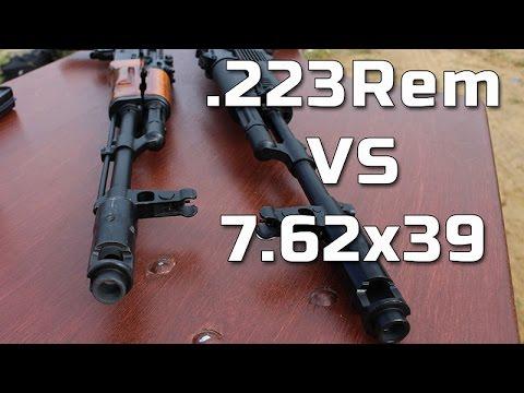 видео: .223 против 7,62х39