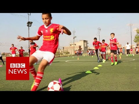 Aspiring footballers in Mo Salah's hometown - BBC News