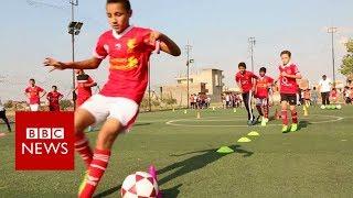 Aspiring footballers in Mo Salah's hometown - BBC News
