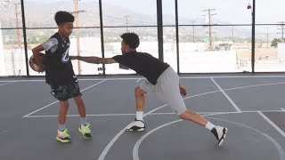 EDGE OF SEAT 1V1 AGAINST 14 YEAR OLD MILES BROWN!