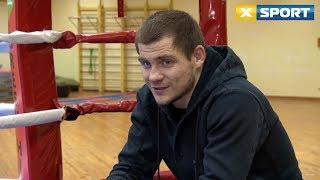 Денис Беринчик, боксер легкой весовой категории. О тренировках перед титульным боем