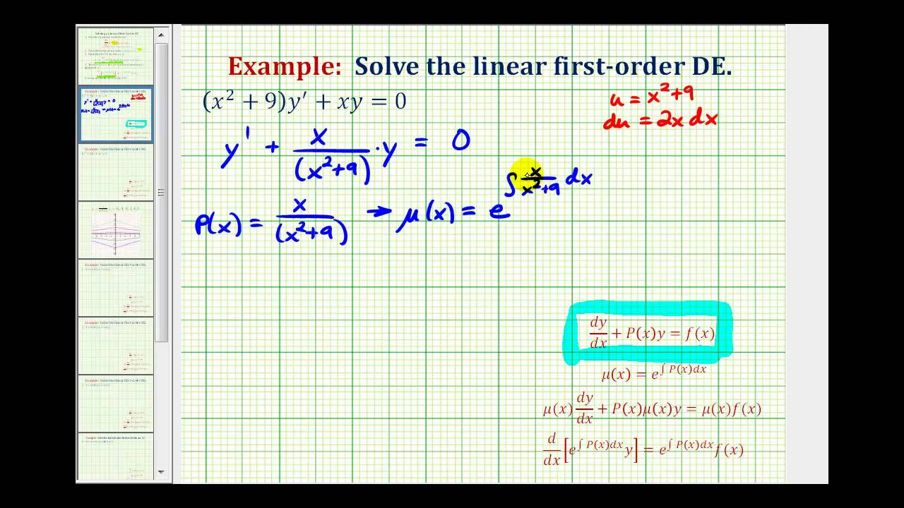first order differential equations problems and solutions pdf