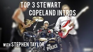 DRUM LESSON - Top 3 Stewart Copeland Intros with Stephen Taylor