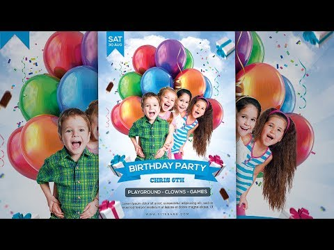 how-to-design-kids-birthday-party-invitation/flyer-in-photoshop