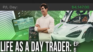 LIFE OF A DAY TRADER +$4,100 PROFIT | DAY 6