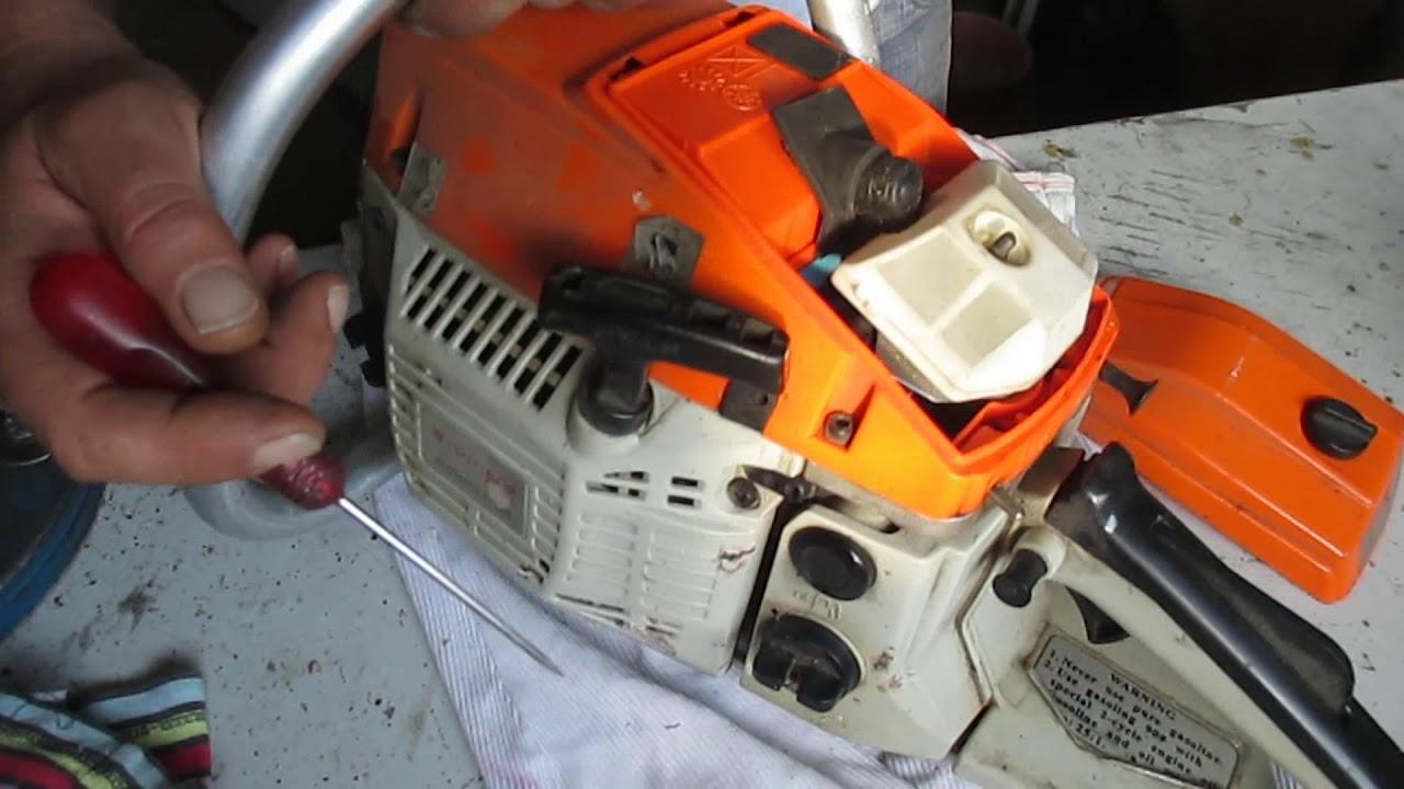 Extrem Motorsäge,Benzinkettensäge Vergaser richtig einstellen und LG15
