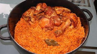 How to Cook Nigerian Party Jollof Rice | Cook and Eat with me