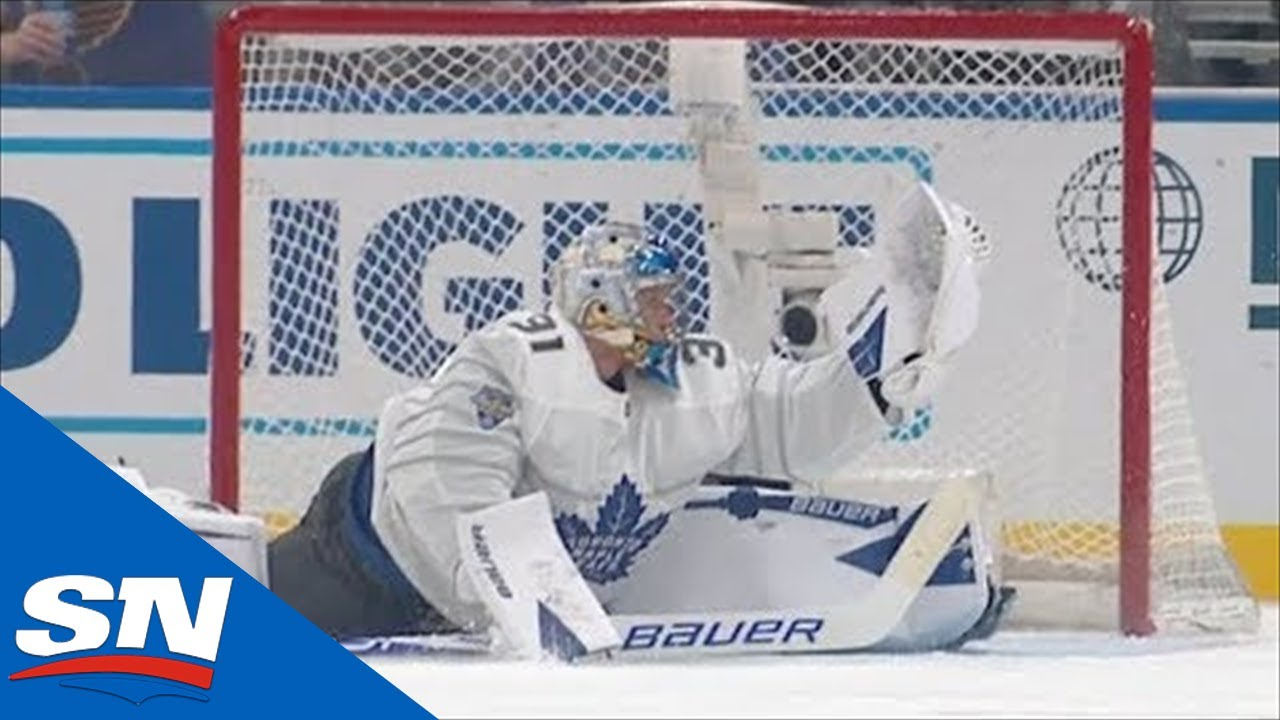 Frederik Andersen Robs Connor McDavid, Then Assists David Pastrnak's Goal