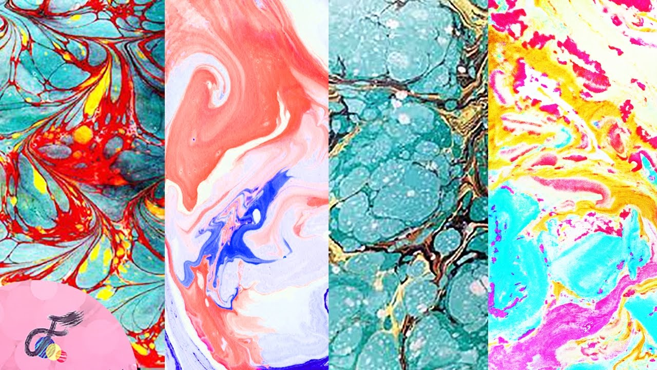 How to do Paper Marbling | Fatema's Art Show - YouTube