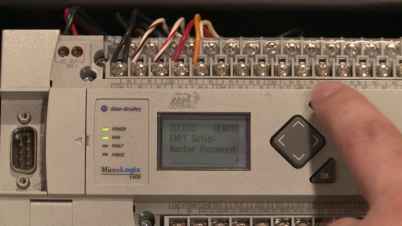 Setting The Ip Address On A Micrologix