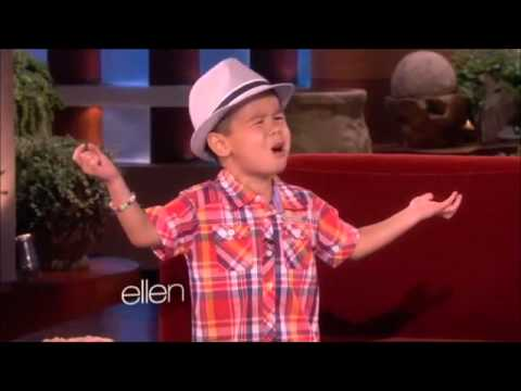 """Four Year Old Kai Sings """"When I Was Your Man"""""""