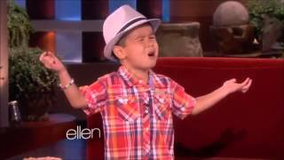 "An adorable little kid called Kai sings ""When i was your man"" on El..."