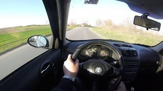 2006 Alfa Romeo 147 1.6 TS 105hp    Spirited Test Drive   Nice sound
