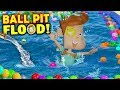 OUR BALL PIT FLOODED! Crazy Washer Machine + Chick Fil A No Like Shawn FUNnel Vision Flood Vlog
