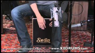Swan Percussion Cygnet Cajon, NEW Classic Black Performance - X8 DRUMS