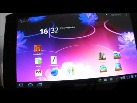 test video acer iconia tab a100