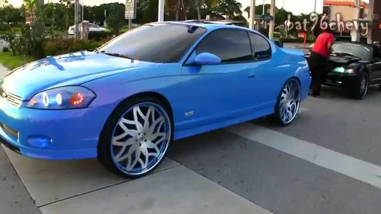Outrageous Blue Monte Carlo Ss On 26 Quot Amani Forged Wheels
