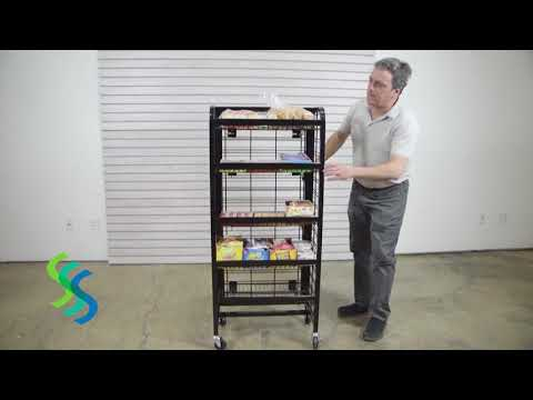 24 Inch Mobile Snack Rack - Item# 92324 Assembly