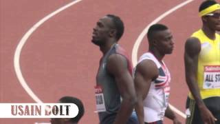 Usain Bolt, Mo Farah and Jess Ennis SLOW MO HD - Olympic Anniversary Games 2013
