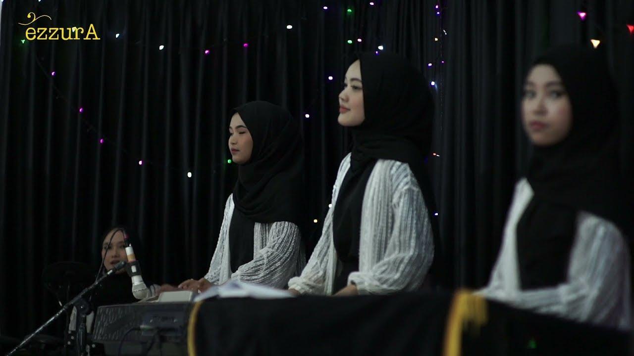 NO EDIT!! INI SUARA ASLI ZAZA EZZURA LIVE PERFORMANCE BAWAKAN LAGU LEGEND #qasidah#nasidaria#ezzura