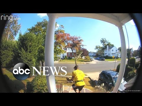 Local police team up with Ring doorbell cameras for porch pirate defense l ABC News
