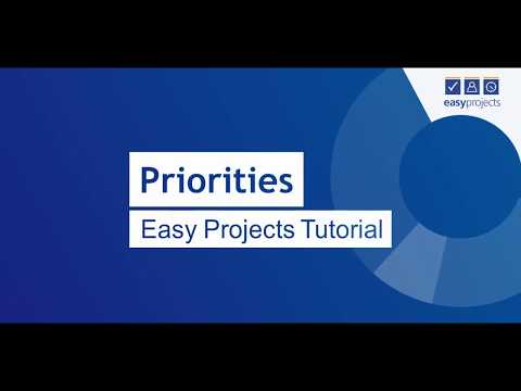 Priorities - Easy Projects Tutorial