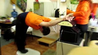 Упражнения на биомеханическую стимуляцию мышц на аппарате Назарова. Упражнения на растяжку