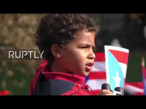 US: Thousands rally in support of hurricane-hit Puerto Rico
