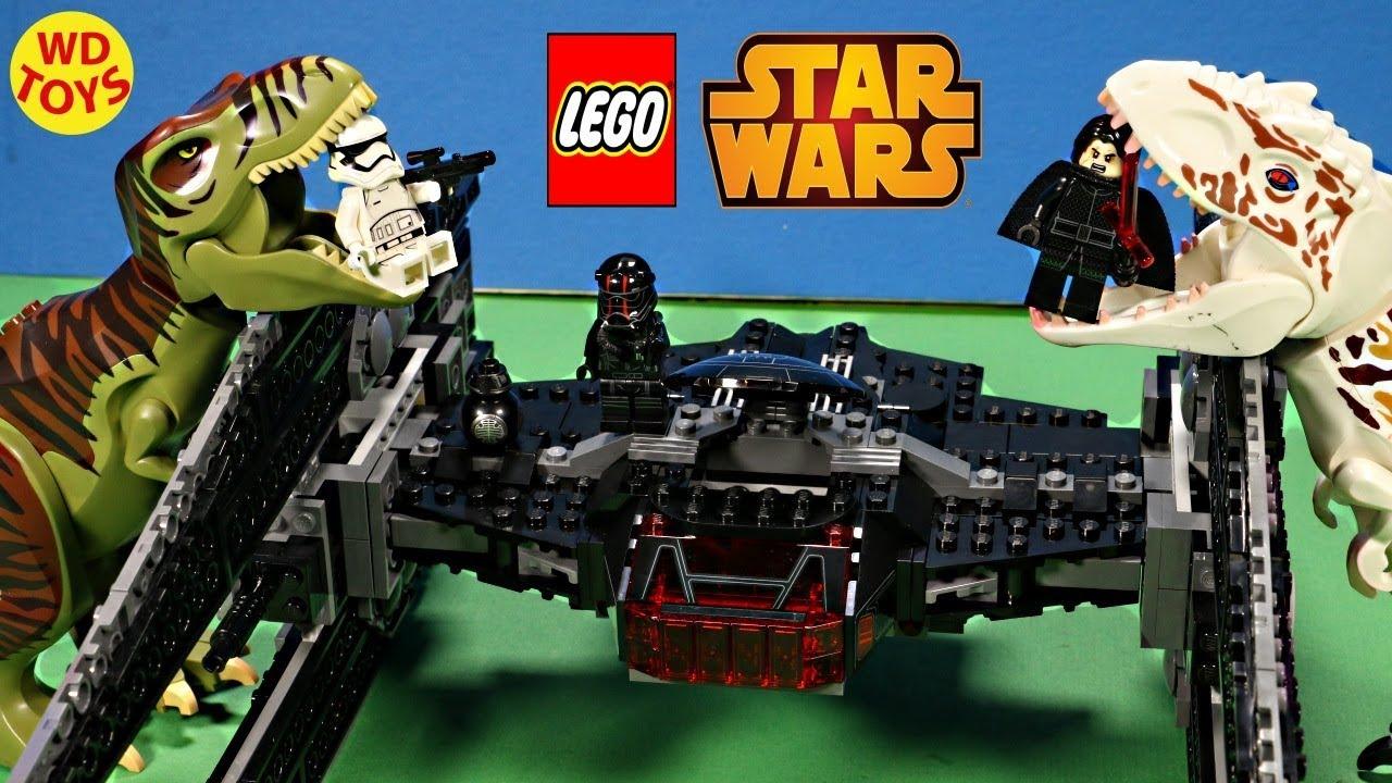 New Lego Star Wars Kylo Ren's TIE Fighter 75179 lego Speed Build The Last Jedi  Stop Motion Unb