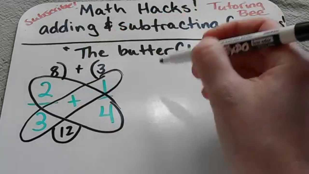 How To Add And Subtract Fractions Using The Butterfly