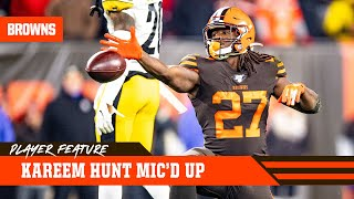 Kareem Hunt Mic'd Up vs. Steelers | Cleveland Browns