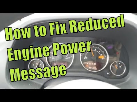 "P2101 Reduced Engine Power Message ""Heres What to Do"""