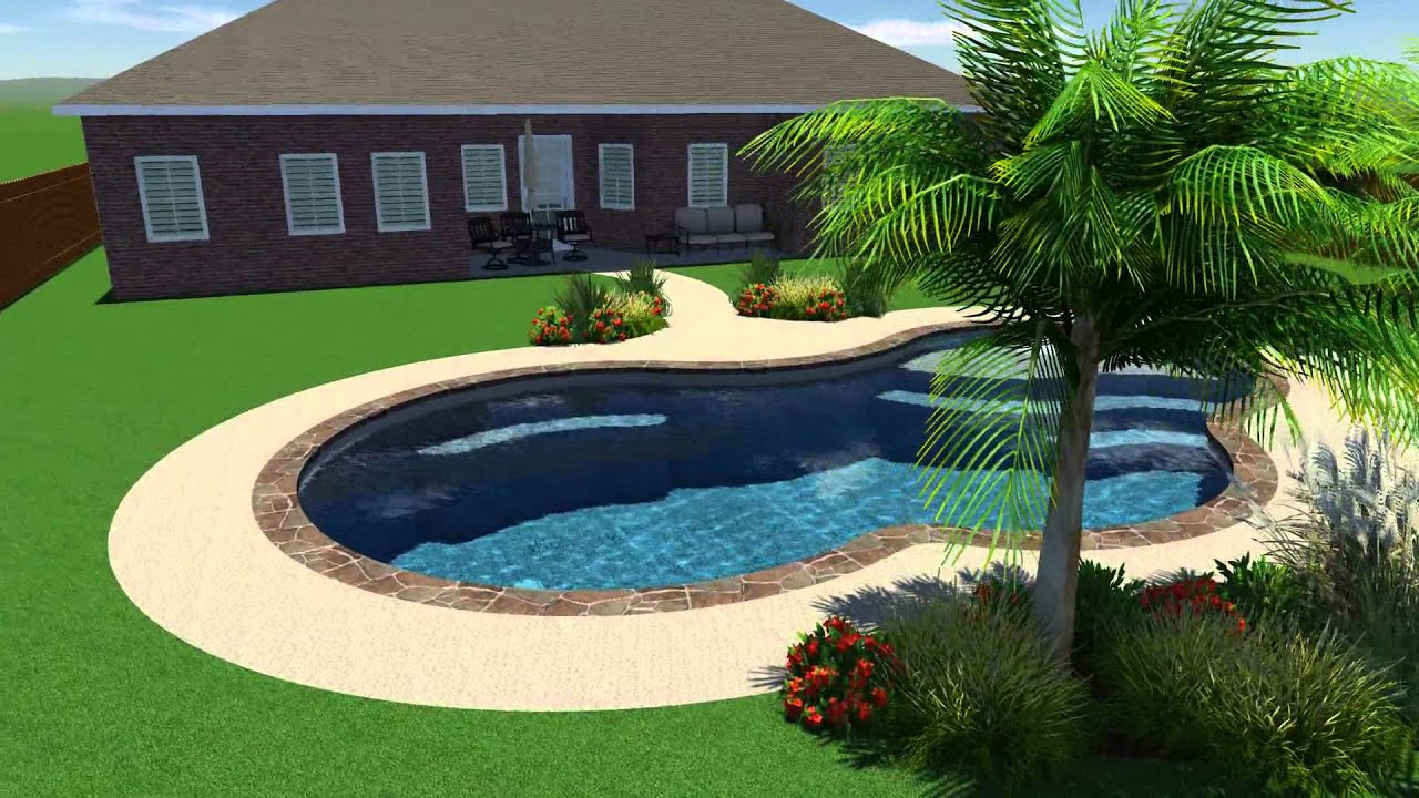 Scott Pool Design by Backyard Amenities - YouTube