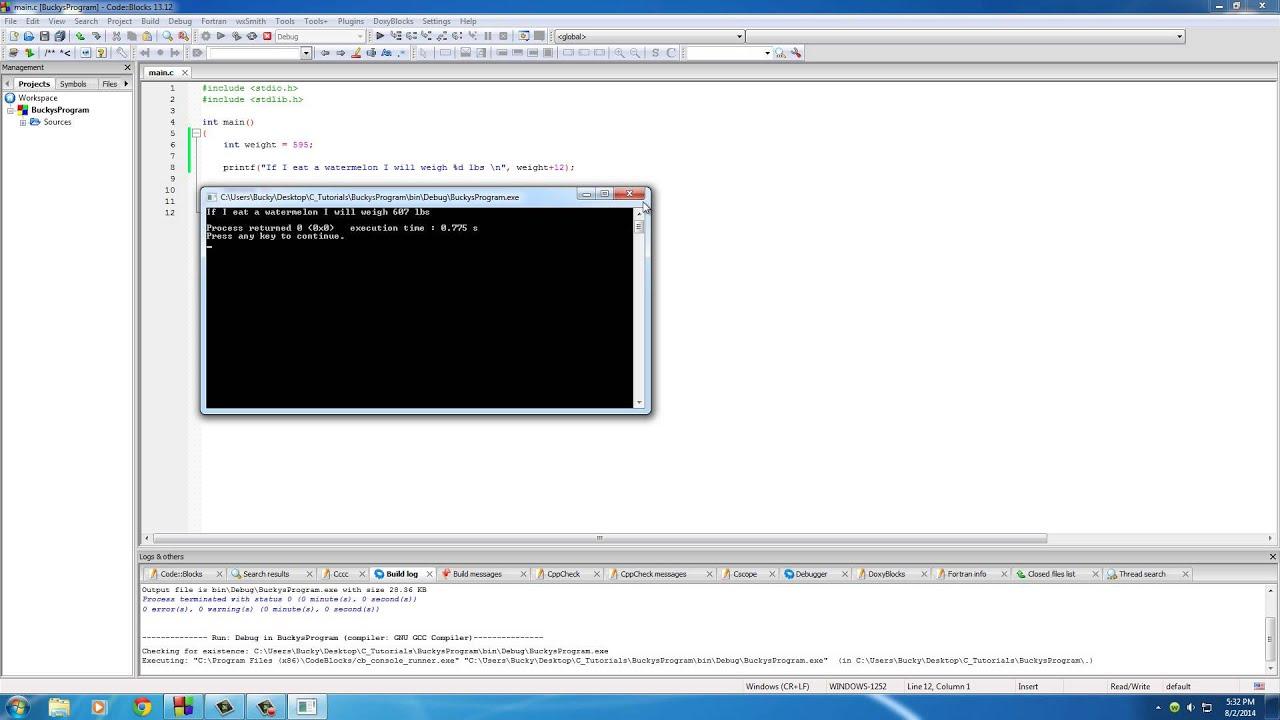 f5c00a03d96 C Programming Tutorial - 12 - Math Operators - YouTube