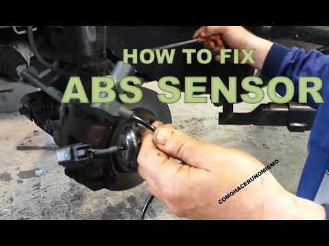 how to repair the abs sensor error chevrolet aveo