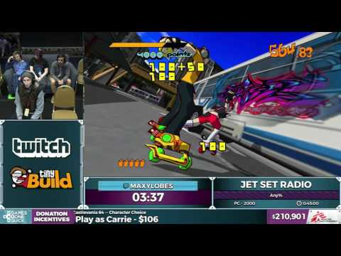 Jet Set Radio by Maxylobes in 0:41:09 - SGDQ2016 - Part 49 [1440p]