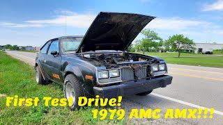 1979 AMC AMX First Drive!  Rebuilt 304 AMC V8, 4 speed!  From Lucore Automotive