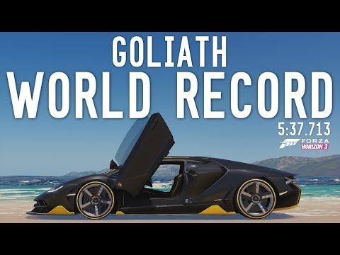 GOLIATH WORLD RECORD - 5:37.713 - Forza Horizon 3