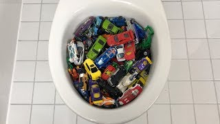 Will it Flush? - 50 Hot Wheels Toy Cars