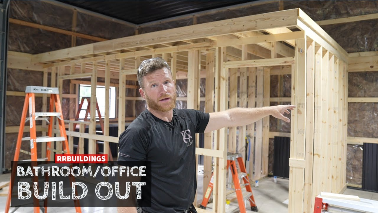 Building out Bathroom and Office Part 1