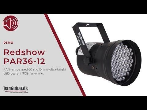 Redshow Par36 12 Led Par Lampe Fra Danguitardk Youtube