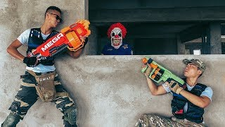 Superheroes Nerf: Couple SEAL X Warrior Nerf Gun Fight Criminal Group Rescue Policewoman Mission