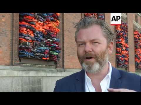 Ai Weiwei turns migrant lifejackets into art in Copenhagen