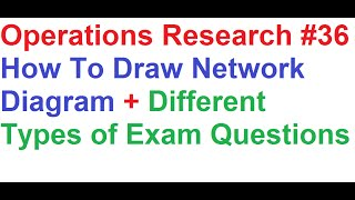 operations research tutorial 36 network analysis 4 how to draw network diagram types of questions